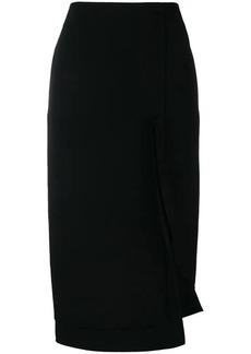 Victoria Beckham side split fitted skirt