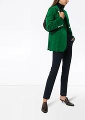 Victoria Beckham single-breasted velvet blazer