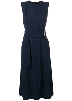 Victoria Beckham sleeveless belted flare dress