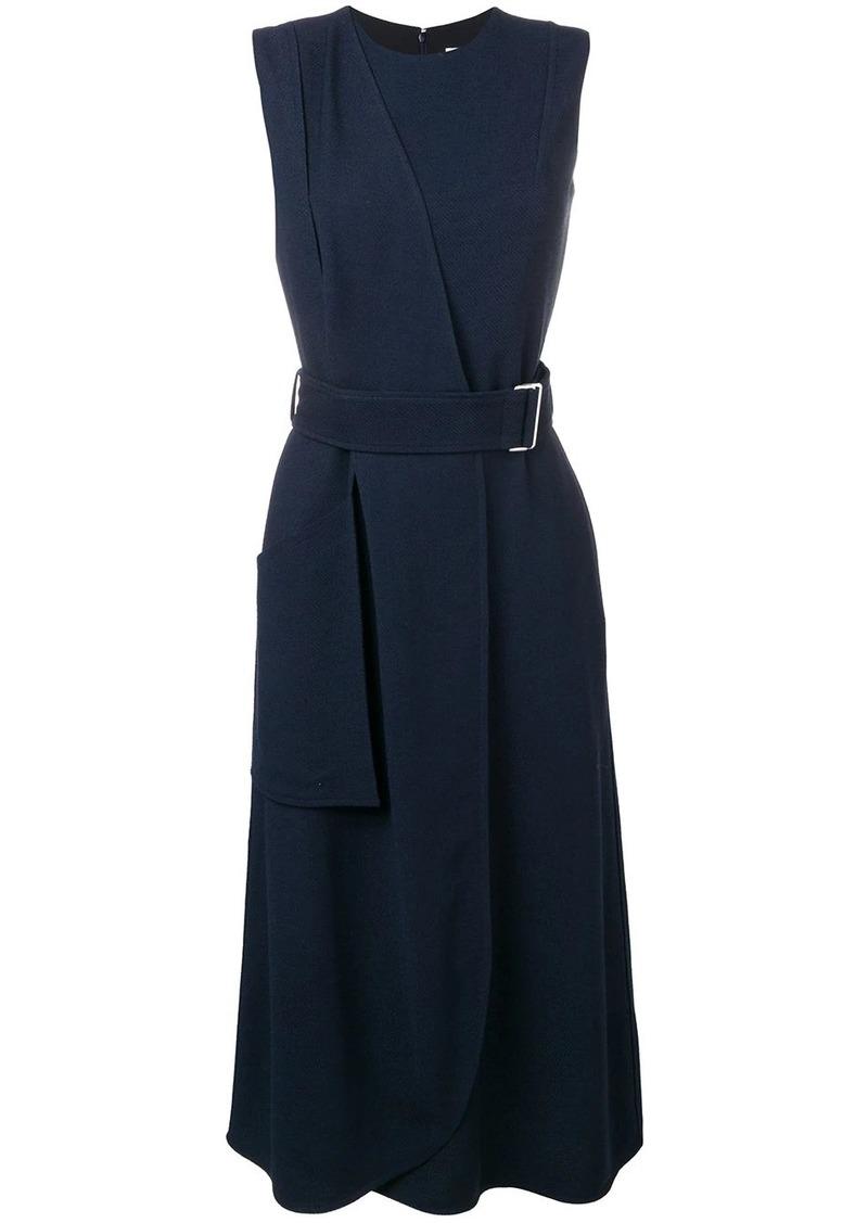 Victoria Beckham sleeveless belted flare dress