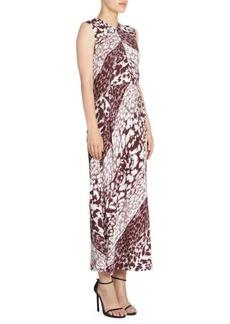 Victoria Beckham Sleeveless Graphic Print Midi Dress
