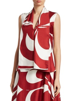 Victoria Beckham Sleeveless Silk Blouse