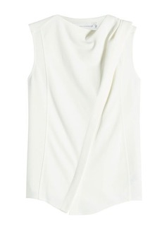 Victoria Beckham Sleeveless Top with Draped Shoulder