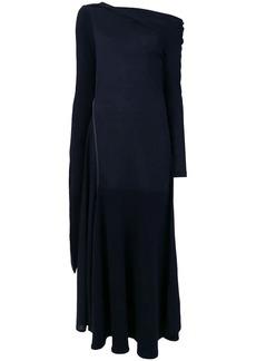 Victoria Beckham straight neck off shoulder dress