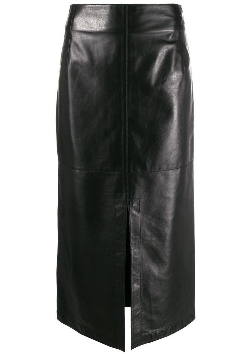 Victoria Beckham straight split-front skirt