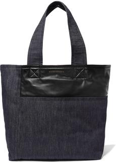 Victoria Beckham Sunday Leather-trimmed Denim Tote