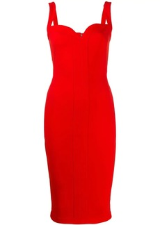 Victoria Beckham sweetheart fitted midi dress