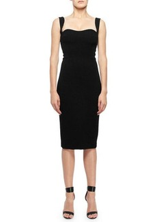 Victoria Beckham Sweetheart Neck Sleeveless Dress