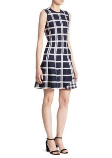 Victoria Beckham Tartan Checked Mini Dress