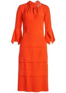 Victoria Beckham Tiered Silk Dress