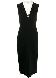 Victoria Beckham tuxedo-style midi dress