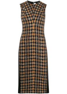 Victoria Beckham tweed panel midi dress