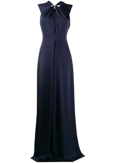Victoria Beckham twist neck floor-length gown