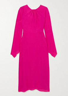 Victoria Beckham Twisted Cutout Silk-crepe Midi Dress