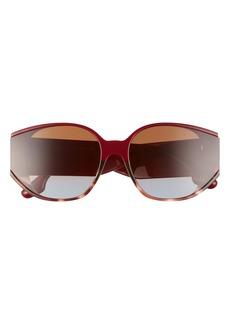 Victoria Beckham 52mm Square Sunglasses