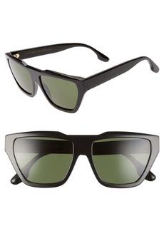 Victoria Beckham 55mm Square Sunglasses