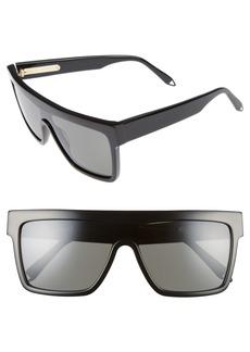 Victoria Beckham 57mm Flat Top Sunglasses