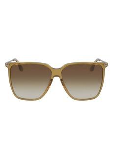 Victoria Beckham 58mm Gradient Rectangular Sunglasses
