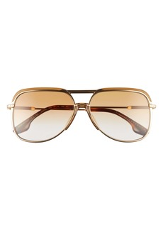 Victoria Beckham 58mm Graident Navigator Sunglasses