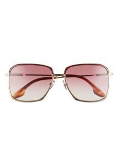 Victoria Beckham 59mm Chevron Gradient Square Sunglasses