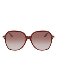 Victoria Beckham 59mm Gradient Round Sunglasses