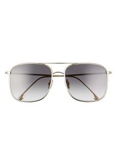 Victoria Beckham 59mm Gradient Square Navigator Sunglasses