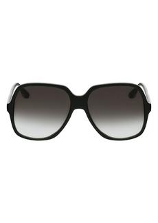 Victoria Beckham 59mm Gradient Square Sunglasses