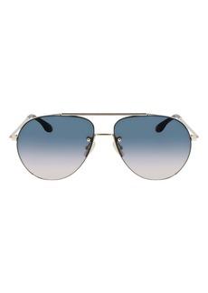 Victoria Beckham 61mm Gradient Aviator Sunglasses