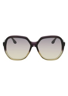 Victoria Beckham 61mm Gradient Oversize Sunglasses