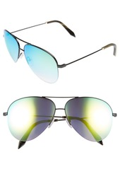 Victoria Beckham 62mm Aviator Sunglasses
