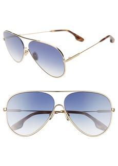Victoria Beckham 62mm Gradient Aviator Sunglasses