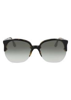 Victoria Beckham 63mm Oversize Gradient Round Sunglasses