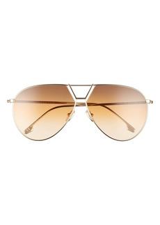 Victoria Beckham 64mm Oversize Aviator Sunglasses
