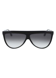 Victoria Beckham 65mm Oversize Gradient Flat Top Sunglasses