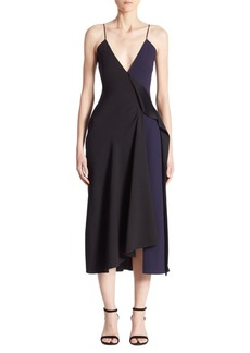 Victoria Beckham Asymmetric Cami Midi Dress