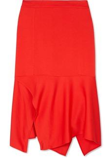 Victoria Beckham Asymmetric Crepe Midi Skirt