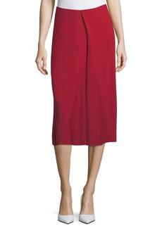 Victoria Beckham Asymmetric Godet Midi Skirt