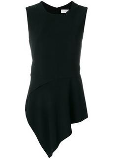 Victoria Beckham asymmetric hem blouse - Black