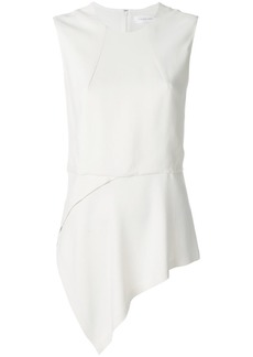 Victoria Beckham asymmetric hem blouse - White