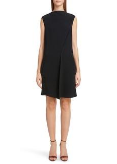 Victoria Beckham Asymmetrical Pleat Shift Dress