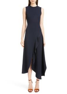 Victoria Beckham Asymmetrical Ruffle Detail Dress