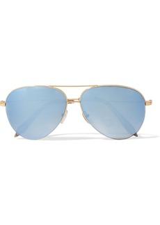 Victoria Beckham Aviator-style gold-tone mirrored sunglasses