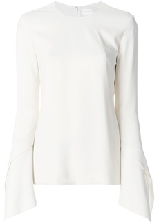 Victoria Beckham bell-sleeved blouse - White
