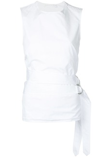 Victoria Beckham belted backless top - White