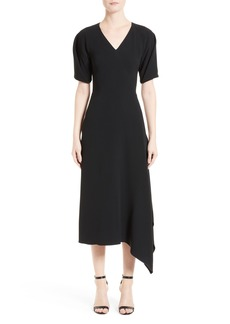 Victoria Beckham Cady Drape Midi Dress