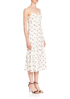 Victoria Beckham Cami Printed Midi Dress