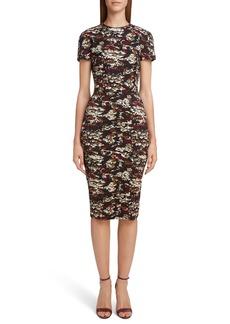 Victoria Beckham Camouflage Jacquard Dress