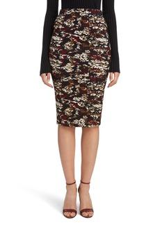 Victoria Beckham Camouflage Pencil Skirt