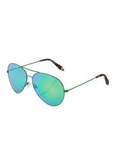 Victoria Beckham Classic Aviator Metal Sunglasses