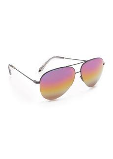 Victoria Beckham Classic Victoria Aviator Rainbow Sunglasses